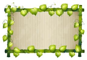 Bamboeframe met groene bladeren