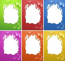 Frame ontwerp met aquarel smelten