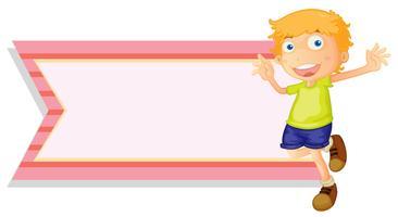 Bannermalplaatje met gelukkige jongen vector