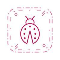 lady bug vector pictogram