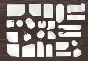 Sticky Notes en Houten Panelen Vector Pack