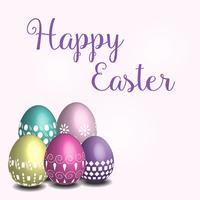 Pasen-thema met boven het kleurrijke ei