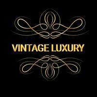 Gouden decoratieve frame. Vintage logo sjablonen