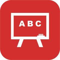 Vector schoolbord pictogram