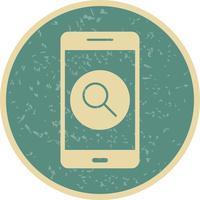 Zoek mobiele applicatie vector pictogram