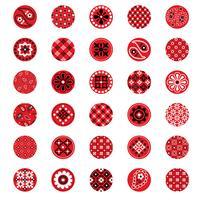 rode bandana patroon cirkels vector