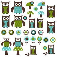 Blauwgroen mod Owl Clipart