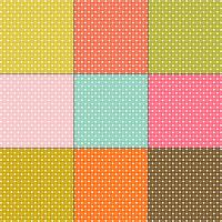 witte stippatronen op retro kleurenachtergronden