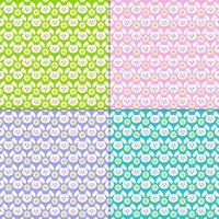 Paashaas gezicht en daisy patronen vector