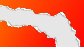 minimale abstracte gradiënt oranje gescheurd papier gescheurd sjabloon vector