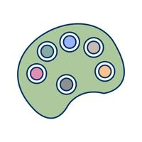 Vector kleuren Pallete pictogram