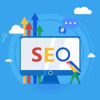Werken op site-inhoud en zoekmachines indexeren vector