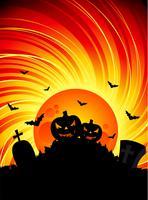 vectorillustratie op een Halloween-thema met pompoenen