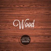 Graphic_165_Wood_03 Vector houtstructuur achtergrondontwerp. Natuurlijke donkere vintage houten illustratie.