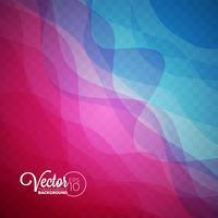 Abstract vector stromend kleurengolfontwerp op transparante achtergrond.