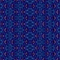 sierlijke blauwe en gouden joodse sterpatroon vector