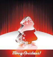 Vectorillustratie op een kerstthema met 3D-kerstboom vector