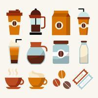 koffie clip art element collectie vector