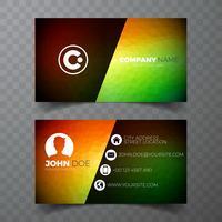 Sjabloon voor vector moderne groene visitekaartjes ontwerp op schone achtergrondkleur.