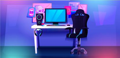 ESports Workplace cybersport-gamer vector