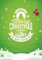 Vector Merry Christmas Holiday en gelukkig Nieuwjaar illustratie