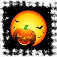 vectorillustratie op een Halloween-thema met pompoen