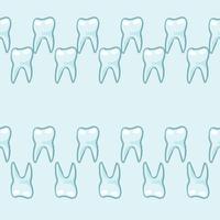 Witte tanden op blauwe achtergrond. vector