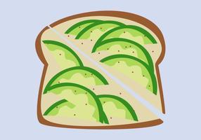Gezonde avocado Toast vectoren