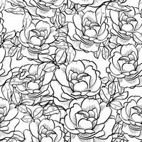 roos naadloze vintage patroon