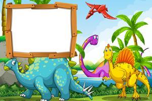 Dinosaurussen op het meer vector