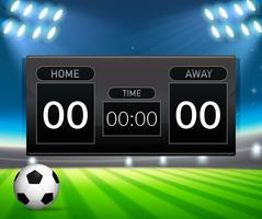 Een scorebord sjabloon voor voetbal vector