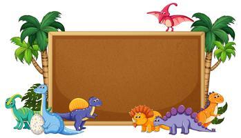 Een dinosaurus op prikbord