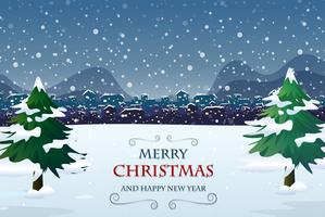 Vrolijk kerstfeest uit de deur sjabloon