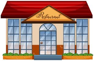 Een restaurant op witte achtergrond vector