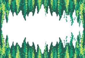 Een leeg frame van dennenboom