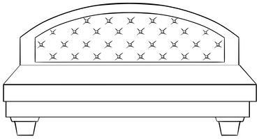 Luxe bed vector