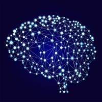 Kunstmatige neurale netwerkenbanner. Een vorm van connectionisme ANNs. Computersystemen geïnspireerd door de biologische neurale netwerken. Vector illustratie