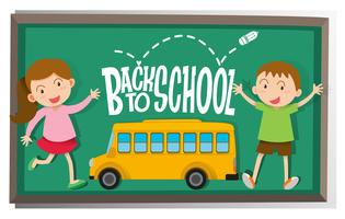 Meisje en jongen terug naar school