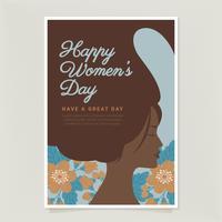 Vector dag kaartsjabloon voor dames