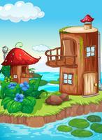 Sprookje huis in de natuur