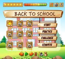 Terug naar school game sjabloon