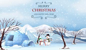 Vrolijk kerstfeest buiten sjabloon vector