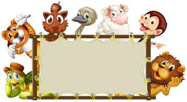 Banner met gemengde dieren