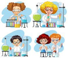 Een reeks van chemicus op witte achtergrond