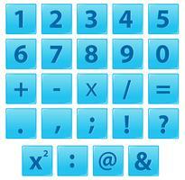 Set van nummer en wiskundig symbool