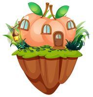 Perzik huis op de klif