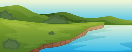 groen landschap en meer
