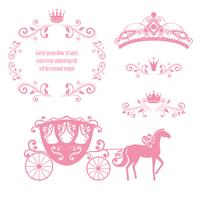 vintage royalty frame met kroon vector