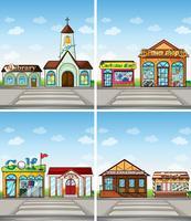 Winkels en plaatsen vector