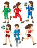 Vrouw en sport vector